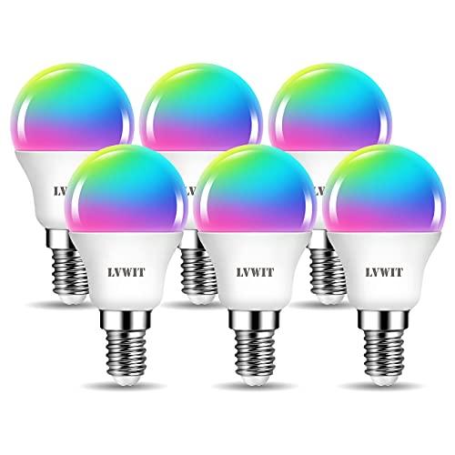 LVWIT 5W Ampoule LED E14 G45 Smart Led Avec WIFI (Remplace 4