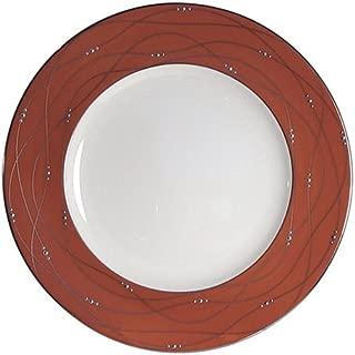 Royal Doulton Precious Platinum 9-Inch Accent Plate, Apricot