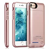 Battery Case for iPhone 6/6s/7/8 2021,JUBOTY 3000mAh Magnetic Battery Charging Case Slim Portable Rechargeable Charger Case for iPhone 6/6s/7/8