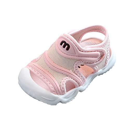 95sCloud Unisex Kinder Sandalen Mädchen Jungen Sport Outdoorsandalen Geschlossene Strand Sandale Schuhe Outdoor Lauflernschuhe Sommer Atmungsaktive Strandschuhe Badesandale (Pink, 17)