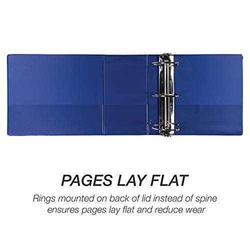 Samsill Durable 6 Inch Binder Blue D Ring Binder/Customizable Clear View Binder/Bulk Binder 2 Pack/Blue 3 Ring Binder 6 inch (MP2X6422) Photo #5