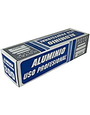 Papel de Aluminio Profesional 30 x 300 M Catering Cocina, Peluquería, Cachimba Hookah Shisha