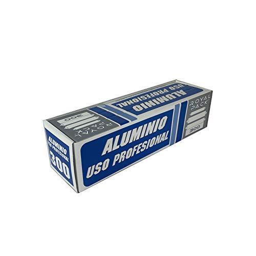 Papel de Aluminio Profesional 30 x 300 M Catering Cocina, Peluquería (1 UND)