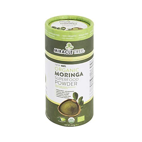 Miracle Tree - 100% Organic Moringa Superfood Powder - 226.8 Grams