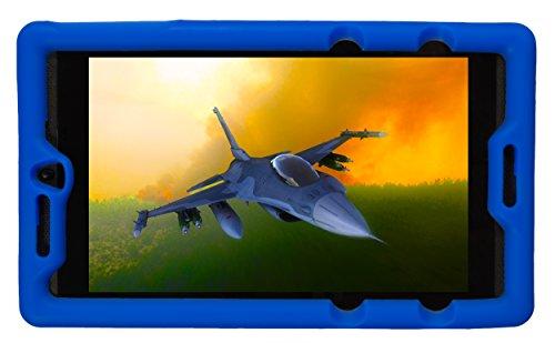 BobjGear Bobj Silikon-Hulle Heavy Duty Tasche für NVIDIA Shield Tablet K1 Schutzhulle (Blau)