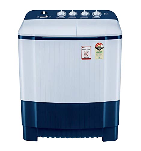 LG 6.5 Kg 4 Star Semi-Automatic Top Loading Washing Machine (P6510NBAY, Dark Blue)