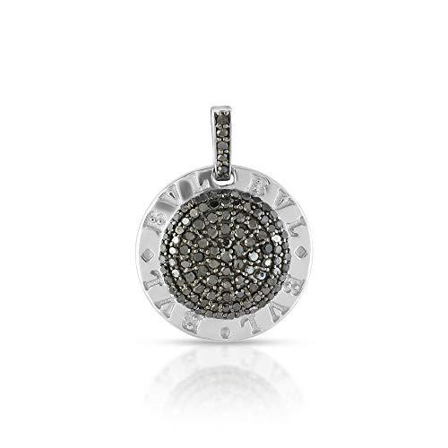 Pendentif en argent sterling 925 massif de 20,8 cts en forme de pièce de monnaie, pendentif en diamant naturel, pendentif diamant de qualité pour elle.