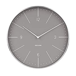 Karlsson Wall Clock, Steel, Gray, One Size