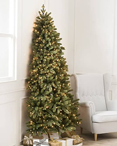 Balsam Hill Space Saving 6ft. Pre Lit Half Artificial Christmas Tree