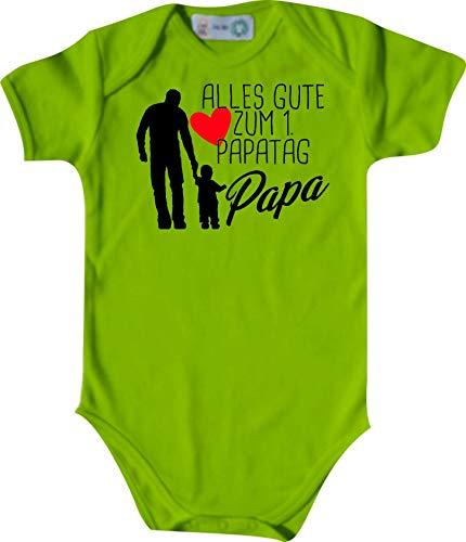 Shirtinstyle Body Todo Buena para 1. Papatag Papa, Manga Corta Body de Bebé, Bebé, Nacimiento, Bautizo, Pelele - Lima, 50-56