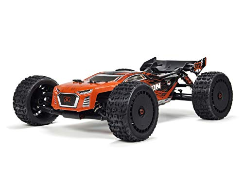 ARRMA Talion 1/8 Scale BLX Brushless 4WD RC Speed Truggy RTR (6S Lipo Battery Required) with 2.4GHz STX2 Radio, ARA106048 (Red/Black)