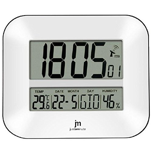Lowell jd9902 Digital Wall Clock rechthoek wit – wandklok (wit, 270 mm, 240 mm