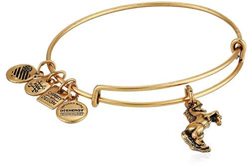 Alex and Ani Unicorn EWB Bangle Bracelet, Rafaelian Gold, Expandable