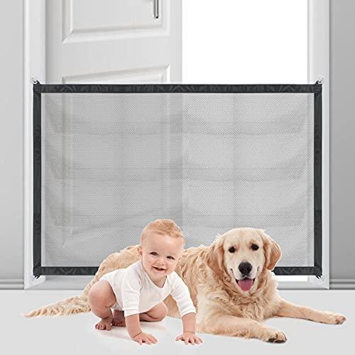 Hunde Türschutzgitter - Treppenschutzgitter Ohne Bohren Hundeschutzgitter Ausziehbar Türgitter für Hunde 110*70cm