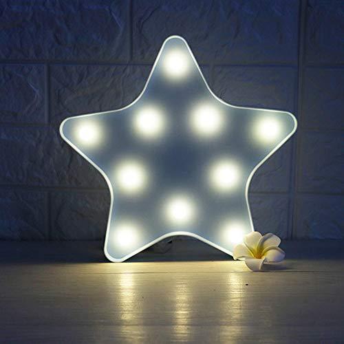 NiQiShangMao 3D LED Veilleuse Mignon Star Moon Cloud Design Mur Bureau Ornements Enfants Lampe de Crèche Noël Chambre Décoration