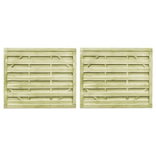 Tuinpoorten 2 stuks FSC Geïmpregneerd grenenhout 150x125 cm Groen Hardware Hekwerk & Barrières Poorten