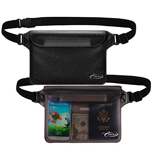 AiRunTech Waterproof Pouch with Waist Strap (2 Pack) | Beach Accessories Best Way to Keep Your Phone...