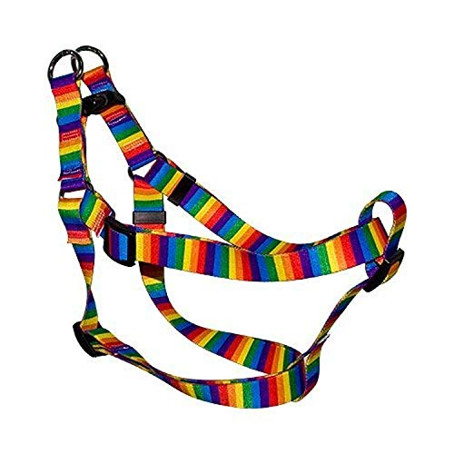 Yellow Dog Design Step-In Harness, X-Small, Rainbow Stripes