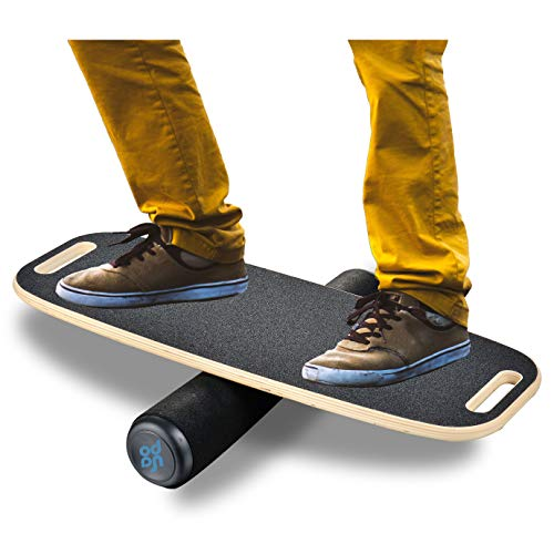 "Bona Balance Board Trainer for Fun, Challenging Fitness and Sports Training, Comes with 29.1"" X 10.8"" Non-Slip Deck, 3.9"" Roller"