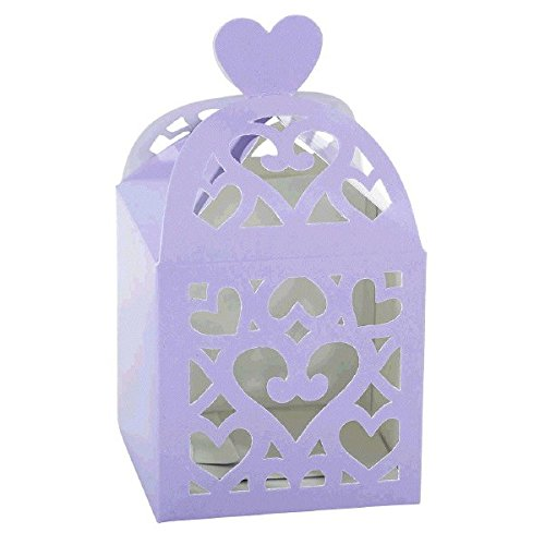 "Amscan Functional Wedding Party Accessory Lantern Favor Box, 2-1/2 x 2-1/2 x 2-1/2"", Lilac"