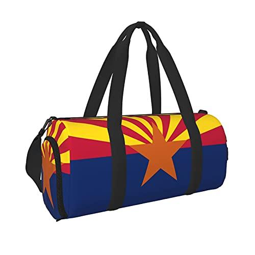 Arizona Fahne Sport Turnbeutel mit Nassfach & Schuhfach Reisetasche Seesack für Herren Damen, Schwarz , Einheitsgröße,