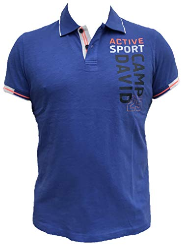Camp David Herren Polo mit Logo Artwork und Neon-Details
