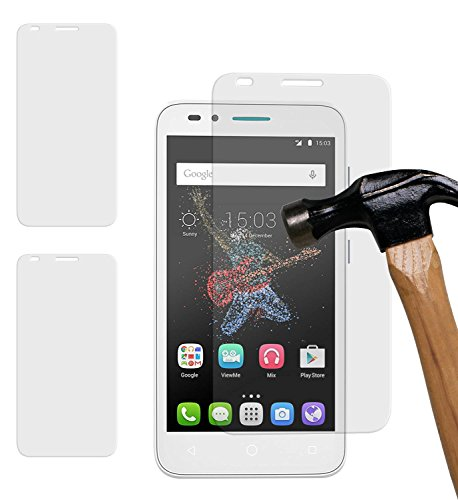 yayago 2er Set Bildschirmschutzglas 0,26 MM Bildschirmschutzfolie für Alcatel One Touch Go Play Glasfolie Hartglas 9H (bewusst Kleiner als das Bildschirm, da Dieses gewölbt ist)