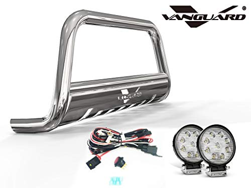 VANGUARD Stainless Steel Bull Bar 4.5in Round LED Kit | Compatible with 07-18 Acura RDX / 07-16 Honda CR-V