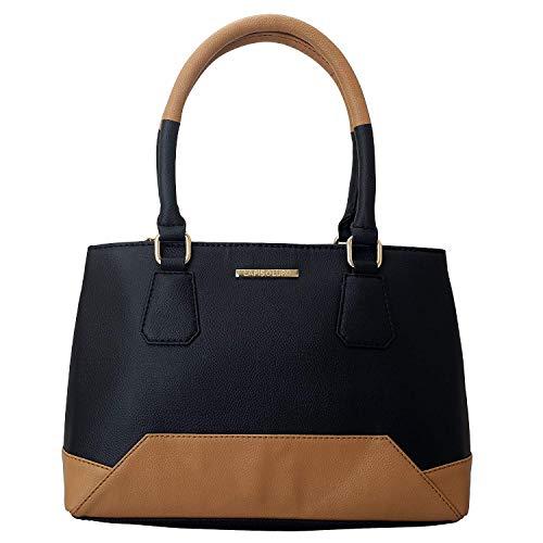 Lapis O Lupo Livid Damen Handtasche Schwarz Designer Satchel Taschen mit Multi Pocket