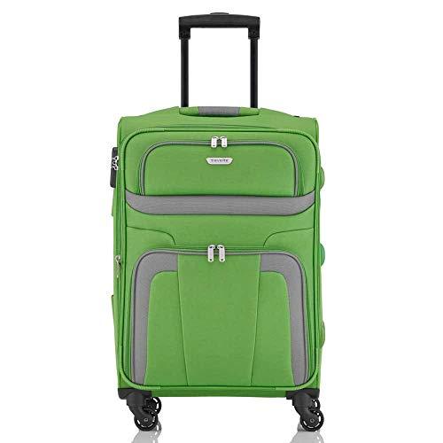 Travelite Orlando 4w Trolley M, erweiterbar, 98548-80 Koffer, 65 cm, 63 L, Grün