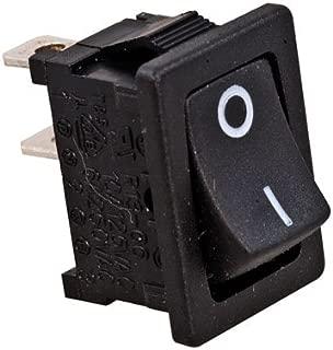 Jameco Valuepro R13-66A-B-02-R Rocker Switch, SPST, 16 Amp, 250V, 2-Pin, 0.83