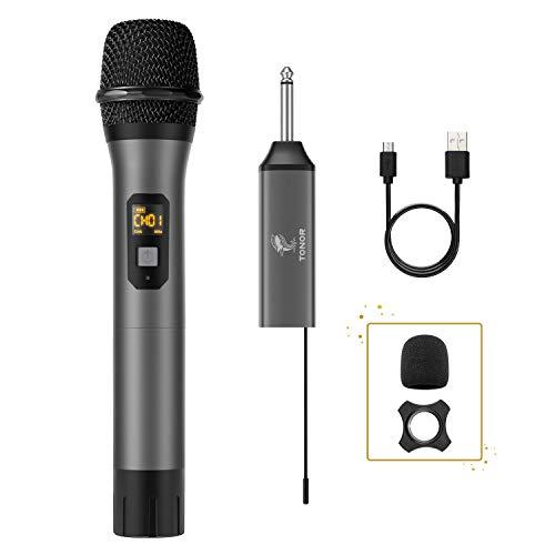 Micrófono Inalámbrico, TONOR Sistema de Micrófono de Mano...