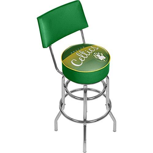 NBA Boston Celtics Hardwood Classics Bar Stool with Back, One Size, Chrome