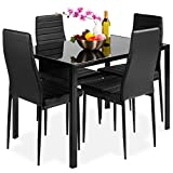 Best Choice Products 5-Piece Kitchen Dining Table Set for Dining Room, Kitchen, Dinette, C...