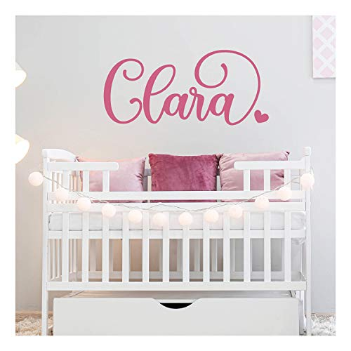 Custom Name Wall Decal for Nursery Room Decor, Personalized Vinyl Name Stickers for Baby Boys & Girls, 14 Color 12', 18', 24', 36' Size Options   Cool & Cheap Decoration Idea, Great for Baby Shower F1