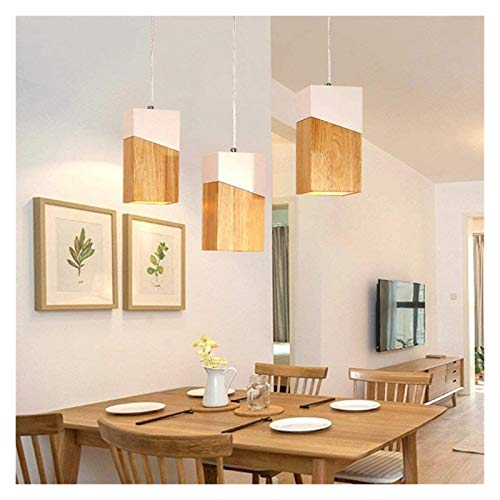 Durable Chandeliers Nordic Solid Wood Chandeliers Modern Simple LED Ceiling Lamps Creative Restaurant Cafes Bar Decorated Chandeliers Pendant Lighting Hyococ (Size : Three Heads)