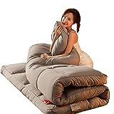 zyl Colchón de Piso Individual Doble Japonés colchón de futón colchón Plegable para Dormitorio de Estudiantes colchón de Piso de futón Grosor de futón Plegable de Tatami Suave y Transpirable 150