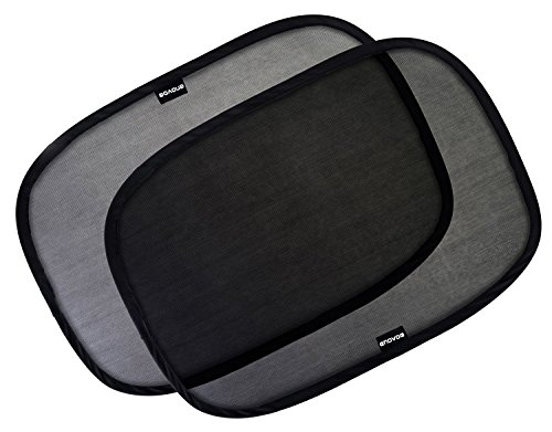 """Enovoe Car Window Shade - (2 Pack) - 21""""x14"""" Cling Sunshade for Car Windows - Sun, Glare and UV Rays Protection for Your Child - Baby Side Window Car Sun Shades"""