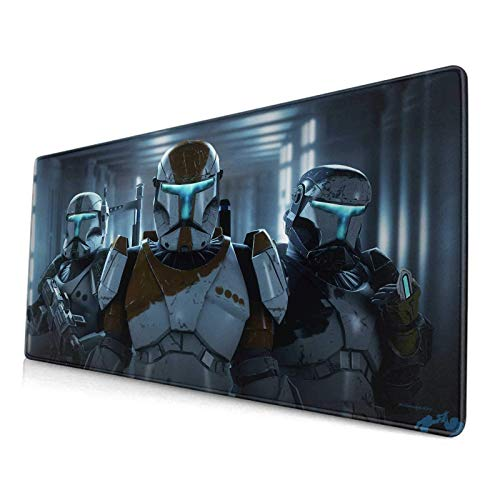 Mouse Pad Star Wars Republic Commando Battlefront 2,Mousepad With Nonskid Rubber Base & Stitched Anti-Fray Edges,Waterproof Laptop Desk Pad,Computer Keyboard And Mice Combo Pads Mouse Mat 29.5X15.7 In