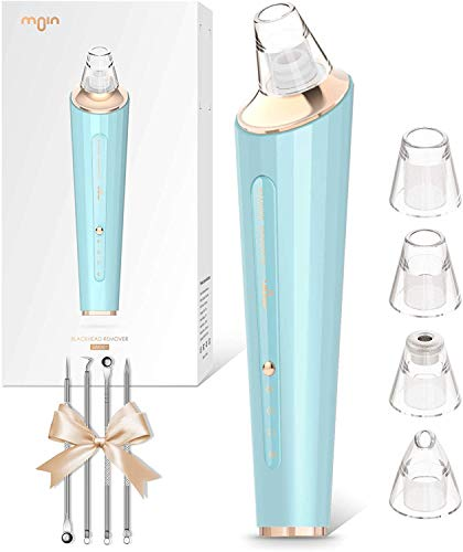 Blackhead Remover Pore vacuum Pore Clean Acne Comedone Pimple Electric Blackhead Extractor Sucker Tool, USB Rechargeable Comedo Blackhead Removal Suction Beauty Device with 4 Probes for all Skins