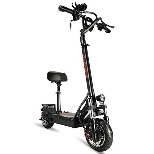 Adult Electric Kick Scooter Q08Plus, 2400W Dual Motor 10'' Tubeless Tires Up to High Speed 75KM/H, Foldable and Long Range Battery Two Wheels UL Certified E Scooters