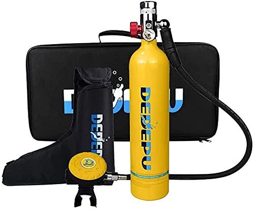 VTAMIN Tanque de Buceo, 1L Mini Cilindro de Buceo con 15-20 Minutos Capacidad de Buceo Oxígeno Oxígeno Aparato de respiración bajo el Agua Equipo de Snorkeling portátil (Naranja)