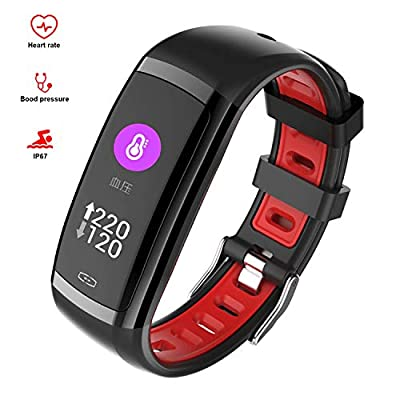 armo Smart Watch Fitness Bracelet Tracker, Sports Watch with Pedometer Pulse Monitor Waterproof IP68 Full Touch Screen Smart Watch for Android iOS