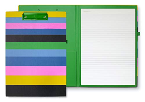 Kate Spade New York Striped Clipboard Folio with Low Profile Clip,...