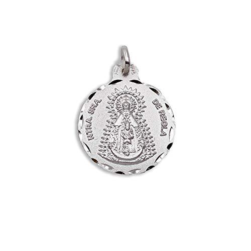 Medalla Religiosa - Medalla Virgen de Regla 21 mm. Plata de Ley 925 milésimas.
