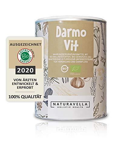 DarmoVit - Hochwirksame Bio Darmkur mit Bakterienkulturen und Flohsamenschalen I zur Darmreinigung & Darmsanierung I Ballaststoffe für die Verdauung I zertifizierte Premium-Qualität I Vegan I 250g