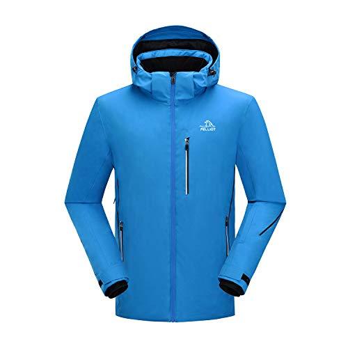 PELLIOT Men's Ski Jacket Rain Jacket Winter Sports Warm Snow Coat with Hooded Men's Cold Weather Casual Jackets