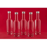 30 o 60 Unidades de Botellas de Cristal pequeñas (50 ml Bormioli de 50ml Rosca Mini biberones Botellas