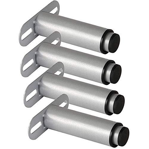 Siunwdiy Verstellbare Beine aus Eisenbett, Stützbeine aus Metallmöbeln, einstellbare Höhe zwischen 125 und 215 mm, Ersatzbeine für TV-Gehäuse,Silber