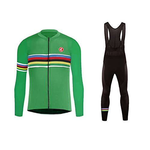 Uglyfrog #03 2017 Nuevo De Invierno Mantener Caliente Manga Larga Maillot Ciclismo Hombre Bodies +Long Bib Pant with Gel Pad...